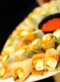 Vietnamese rice paper rolls with tofu